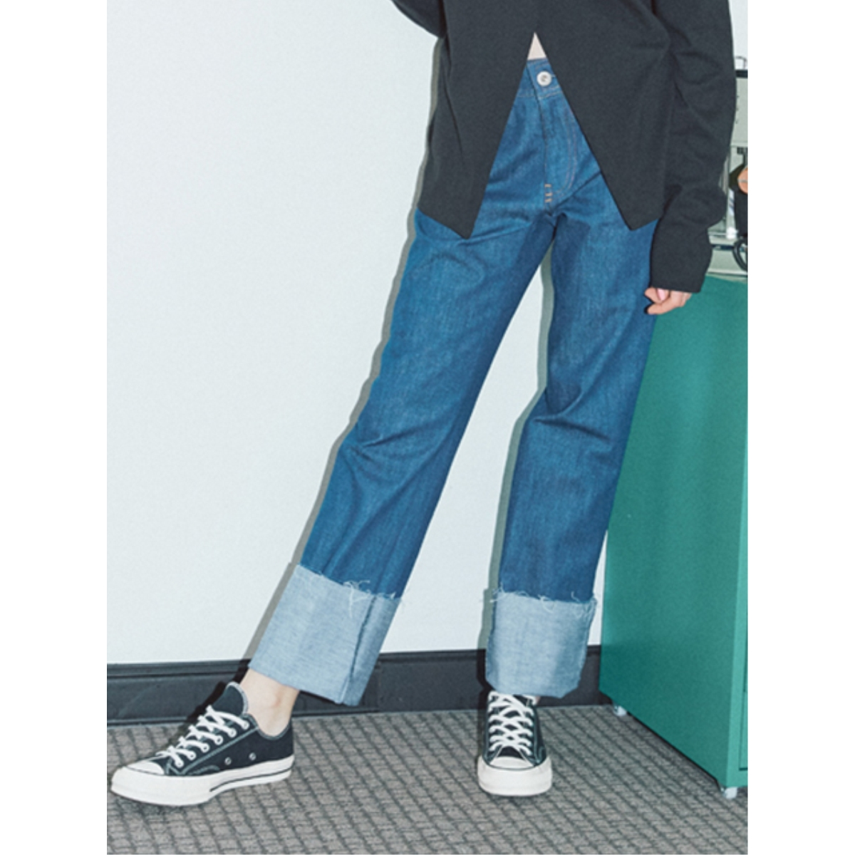 [SER] ROLL-UP DENIM PANTS_SR17SSPT001_DBL