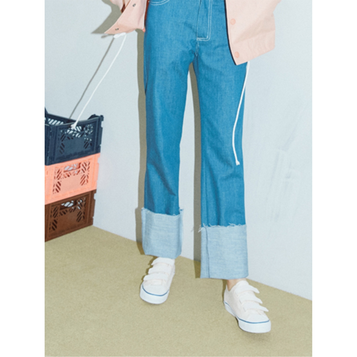 [SER] ROLL-UP DENIM PANTS_SR17SSPT001_BL